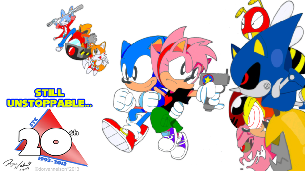 Sonic the Comic 20th Anniversary Piece by DoryaNelson