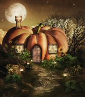 The Pumpkin House by JinxMim
