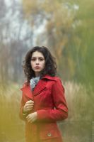 Autumn. Lady in red by Viand