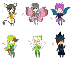 CLOSED - Gijinka Pokemon Adoptables 279 by LeaAdoptables