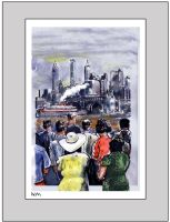 NEW YORK FERRY 1940 by NCMALLORY