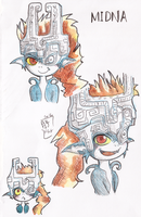 Midna painted doodles by Tsukiko-chan