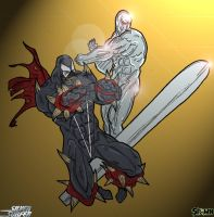 Spawn - Silver Surfer by lone-wolf-boudin
