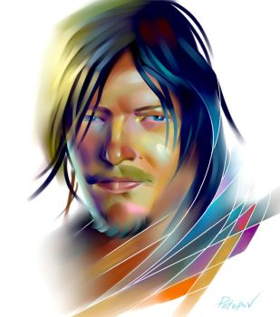 Daryl walking dead by AlexPotapov