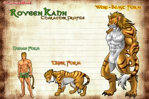 Roveen Kahn : Were-Beast Form by CrimsonBlood-Z