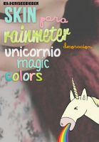 Skin Para Rainmeter Unicornio Colors by DeniseeBieber