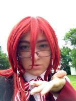 Grell Sutcliff: A Kiss For Sebas~chan by Reinaxia