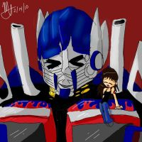 Optimus and Ms. Prime by MNS-Prime-21
