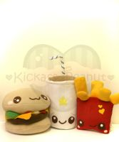 Cheeseburger Meal and Shake by kickass-peanut