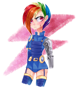 - Alternate Timeline Rainbow Dash - by Zorbitas