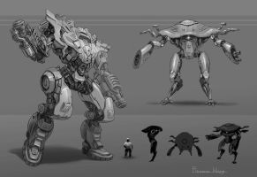 Mech Design by wang2dog