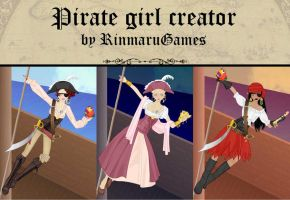Pirate girl creator game by Rinmaru