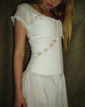 Regency Era Corset Close-up by Verdaera