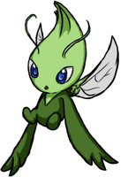 Celebi .Colored. by QueenKami