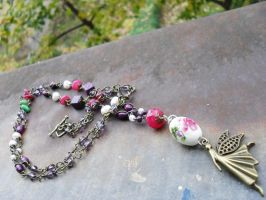 Long angel necklace by edelweiss-workshop