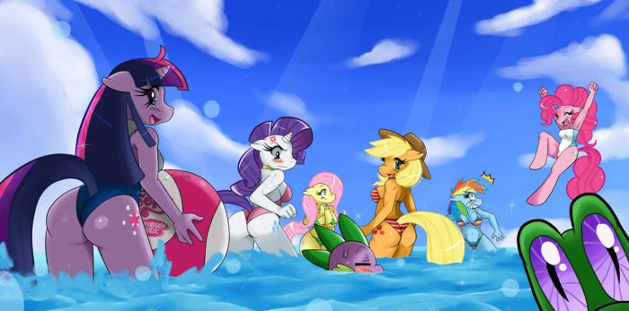 MLP: Summertime in Ponyville by ss2sonic