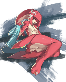 Mipha Pinup Commission by sa-ryong