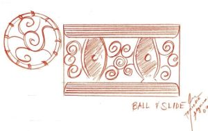 Ball and Slide Sketch by tonieliemariae
