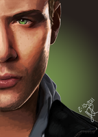 Dean Winchester- Jensen Ackles by Ever-Rae