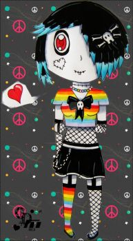 .:Every Outfit Needs abit of Rainbow:. by CandyDeathMachine