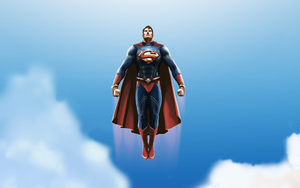 Realistic Superman Redesigned - Wallpaper sized by michealoduibhir