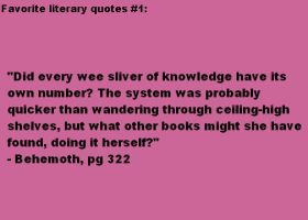 Favorite Literary Quotes #1 by Sea-Glass
