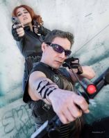 Black Widow and Hawkeye Cosplay by ReginaIt