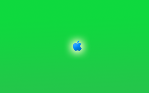 Apple green and blue by Dreagnout