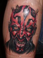 Darth Maul tattoo by benhdv