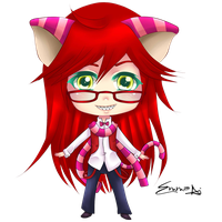 Grell Cat Chibi by Tish-Marie
