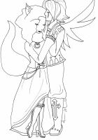 Embrace Lineart by iMonstar-Chan