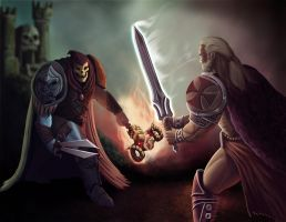 He-Man Vs Skeletor Concept by PeterMan2070