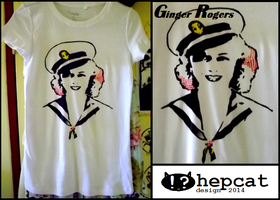 Tshirt Design - Ginger Rogers by Waitingforfuntocome