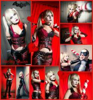 Arkham City Harley Collage by AmmieChan