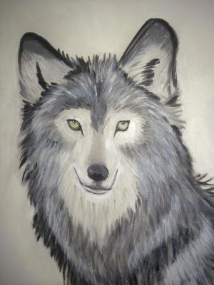 Wolf oil painting by HectorZG