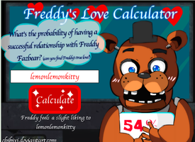 Looks like Freddy loves the TSH creator! by AnimalLover670