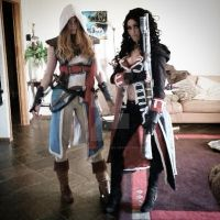 Fem Kenway and Cormac Assassins Creed Cosplay by BabyGirlFallenAngel