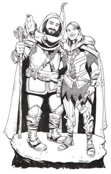 DnD Portrait Commission by TessFowler