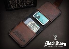 Card Wallet Inside by Blackthornleather
