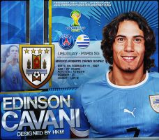 edinson cavani WC2014 design by HkM-GraphicStudio