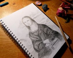 MONA LISA: Drawing by me by MarciP