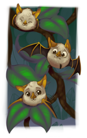 Itty bitty bats by JelliedFox