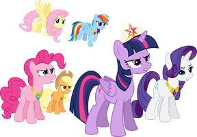 Mane Six Determined by Jeatz-Axl