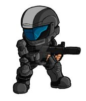 Chibi ODST: The Rookie by GuyverC