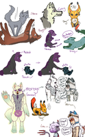 Animalia doodles by Mint-Princess