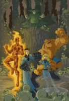 fantastic four vs the mole man by natelovett
