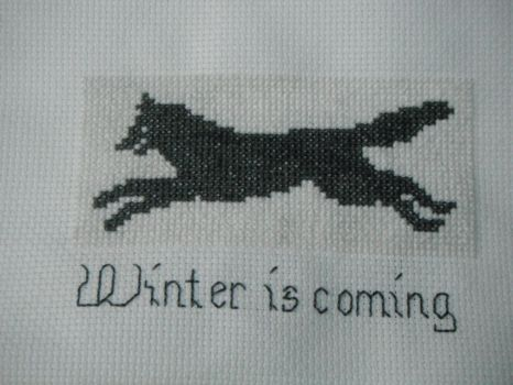 Winter Is Coming Cross Stitch by dottypurrs1