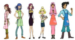 Animal Crossing New Leaf characters by french-teapot