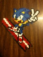 Sonic Surfing Bead Sprite by nayrb00