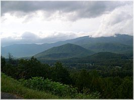 mountains in blue ridge by pooh-stock